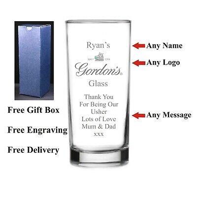 Personalised HighBall Gin Glass, Best Man, Usher, Bridesmaids Wedding