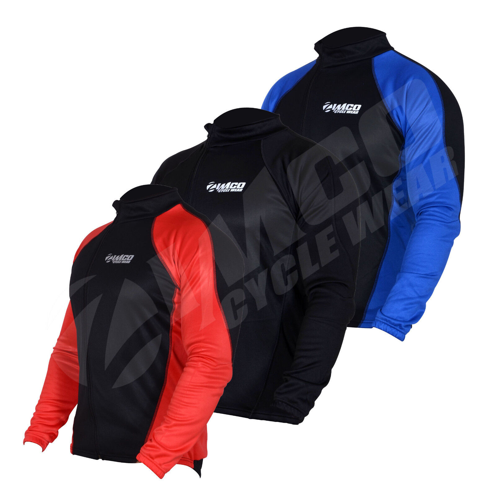 50f0ae577 Details about Zimco Winter Cycling Thermal Jacket Fleece Long Sleeve  Mountain Bike Jersey 1157