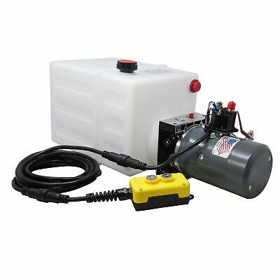 Single Acting Hydraulic Pump For Dump Trailers Kti - 12vdc - 13 Quart Reservoir