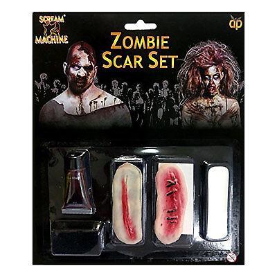 Scream Machine Zombie Scar Set Halloween Fake Blood Scars Make-up (Scream Machine Halloween)