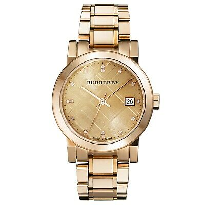 Burberry Ladies watch with a rose gold strap & case BU9126 Swiss movement