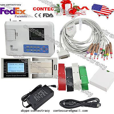 Usa Ship Ce Fda Single Channel 12-lead Portable Ecg Machineekg Heart Monitor