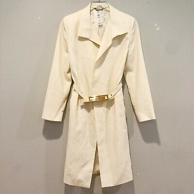 VTG Gianni Versace Ivory Belted Coat size IT 38 US 4 Small
