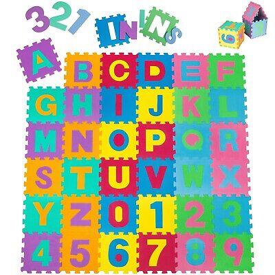 Manta de juegos alfabeto puzzle alfombra rompecabezas 86 piezas goma espuma EVA.
