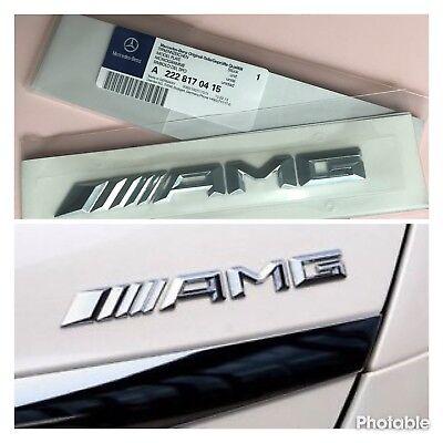 Mercedes Benz Chrome AMG Boot Badge Emblem Decal Fits C E A S Class UK Supplier