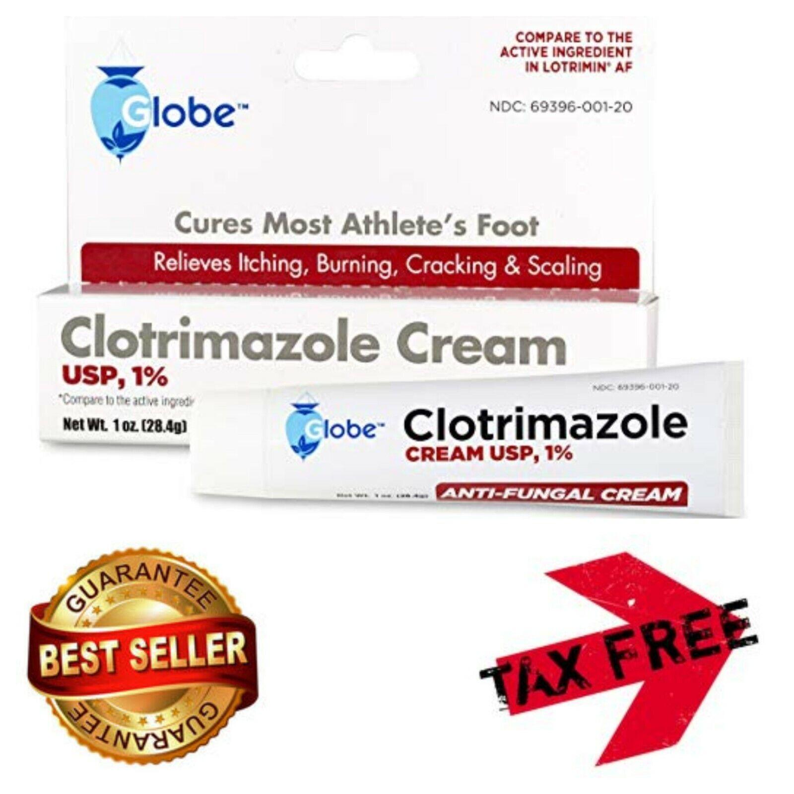 Clotrimazole Antifungal Cream 1% USP Athletes Foot Treatment