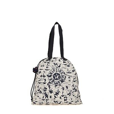 Kipling Kipling Small Shopper Bag NEW HIPHURRAY COLAB PRINT SS19 RRP £34