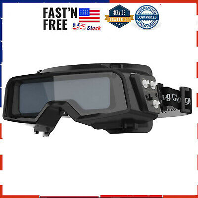 True Color Solar Powered Auto Darkening Welding Goggles 2 Sensors Welder Glasses