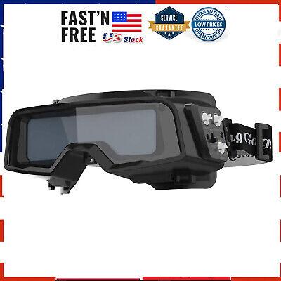 True Color Solar Powered Auto Darkening Welding Goggles 2 Sensors Welder Glasses