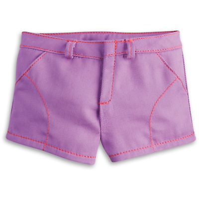 "American Girl TRULY ME PURPLE PLAY SHORTS for 18"" Dolls Clothes Pants Bottom NEW"