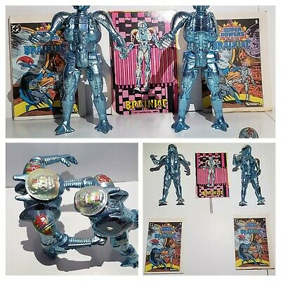 Vintage 1984 Kenner Super Powers Brainiac Figure (2x)- DC - 1980's 2 mini-Comics