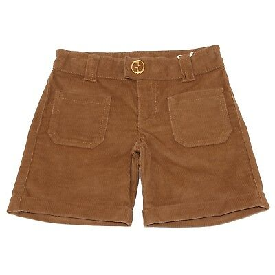 nuovo concetto 31b37 89a0b Details about 5792U pantaloncino bimba GUCCI velvet beige shorts kid girl
