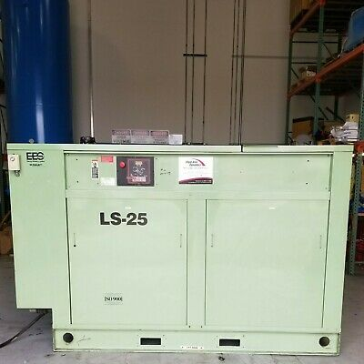 Used Sullair Ls-25 150 Hp Rotary Screw Air Compressor Very Clean Low Hours