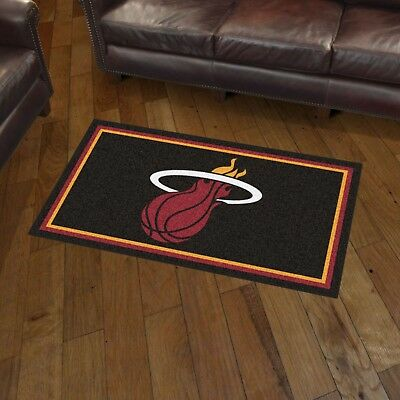 Miami Heat 3' X 5' Decorative Ultra Plush Carpet Area Rug - Miami Heat Decorations