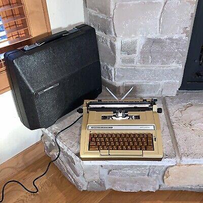 Working Smith-corona Brown Correction Electric Ii 2 Typewriter Scm-98324 Pica
