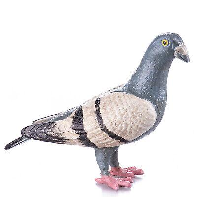9931068 Cast Iron Figure Sculpture Pigeon Coloured Bird 6x20x9cm