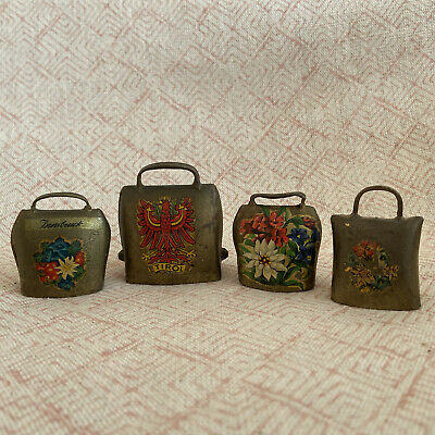 4 Antique Miniature Bells