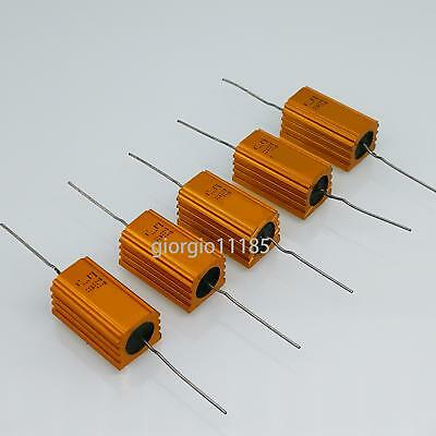 Us Stock 5x 100k Ohm 100kr 5w Watt Aluminum Housed Metal Case Wirewound Resistor