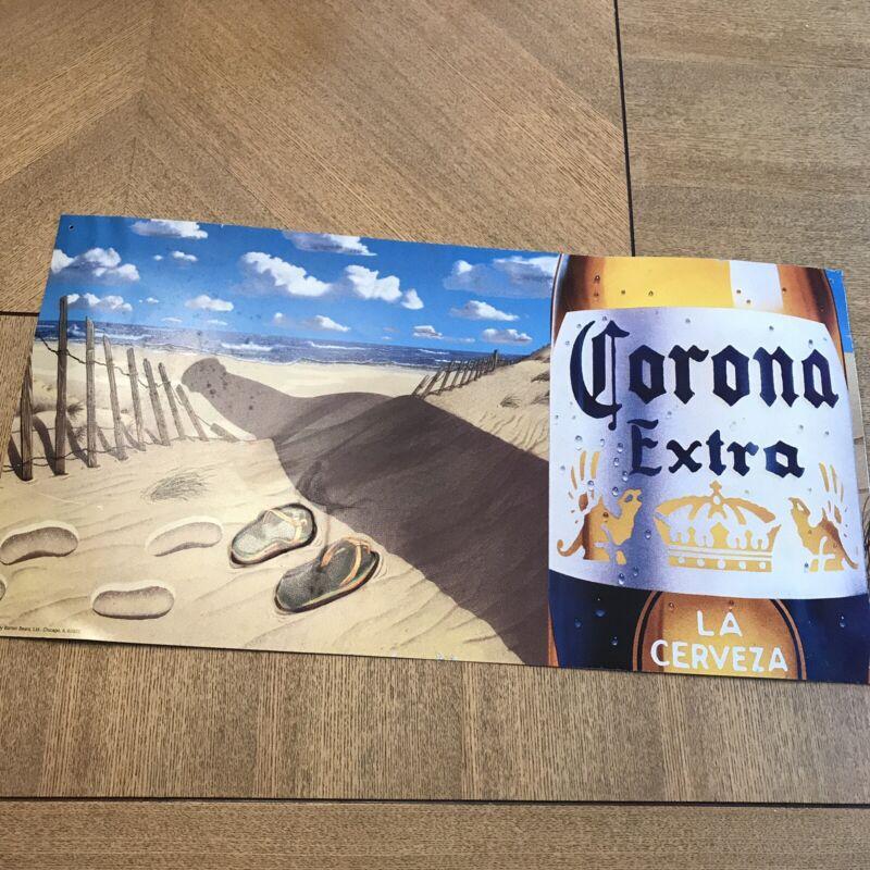"Corona Extra Beer Beach Metal 23"" x 12"" Sign A3775"