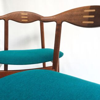 teak retro furniture. Plain Furniture 2x Danish Teak Retro Chairs ParkerEames Era And Furniture