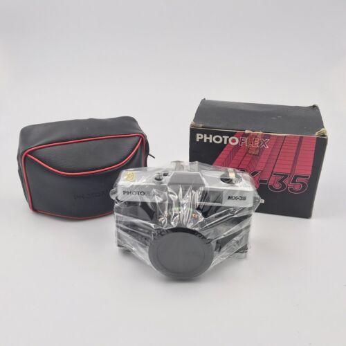 Photo Flex MX-35 35mm Camera New Vintage Original Wrap With Box And Carry Case
