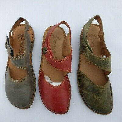Josef Seibel Ladies Leather Sandal Green, Red or Blue Style- Rosalie 27