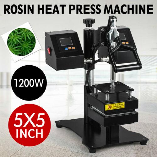 "5"" x 5"" Rosin Heat Press Machine Dual Sublimation Heating Elements Swing Away"