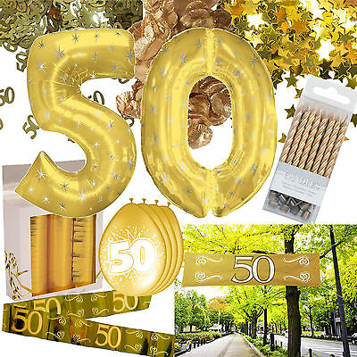 * 50 Jahre * GOLD AUSWAHL für Goldene Hochzeit, Jubiläum, Geburtstag, Deko, etc