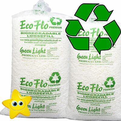 45 Cubic Foot Box of ECOFLO Biodegradable Loose Void Fill Packing Peanuts