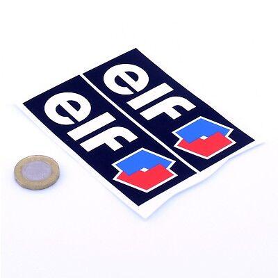 "2x Elf Oil Car STICKERS 2"" 100mm Sports Racing Decals Vinyl Sticker"