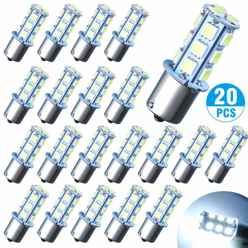 20X Super White 1156 1141 18-SMD RV Camper Trailer LED Interior Light Bulbs 12V