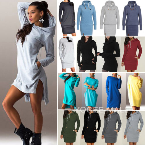 Womens Hooded Sweatshirt Hoodies Dress Long Sleeve Pullover