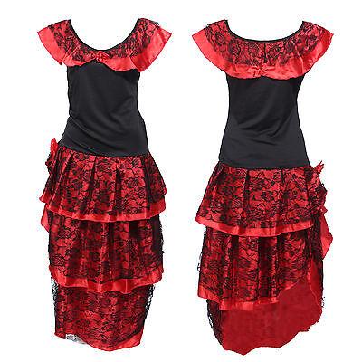 Spanische Flamenco Kostüm Damen Karneval Fasching Tänzerin  verkleiden Fasching