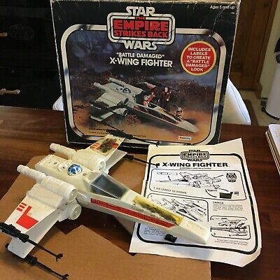 Vintage Star Wars rare ESB Kenner Palitoy X wing fighter original box & insert