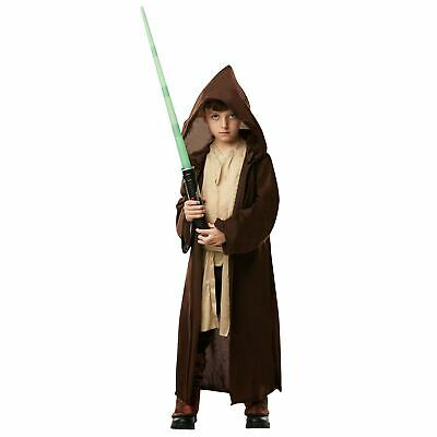 Boys Star Wars Deluxe Jedi Robe Fancy Dress Costume Licensed Product Book Day