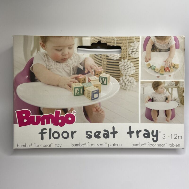 Bumbo Baby Childrens Infant Toddler Floor Seat Eating & Play Top Tray Attachment
