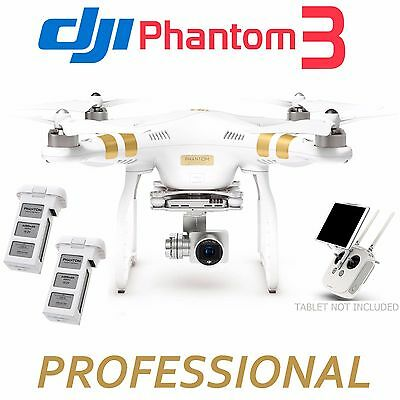 DJI Phantom 3 Professional QuadCopter w/ 4K Camera+3-Axis Gimbal +EXTRA Battery