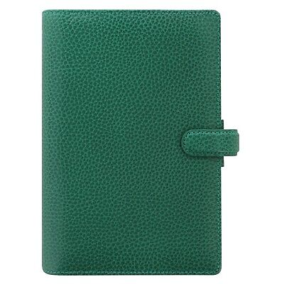 - Filofax Personal Size Finsbury Leather Organizer Forest Green- 025447- Brand New