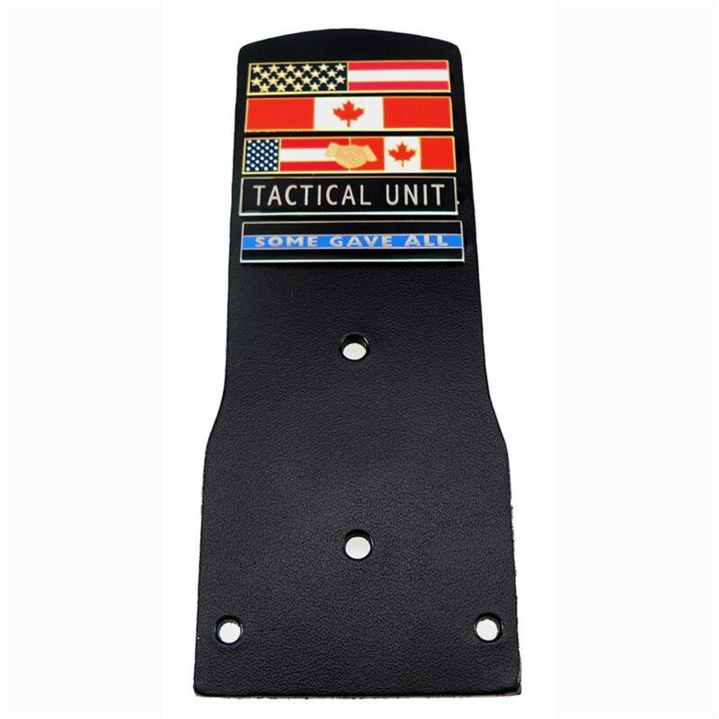 NY NJ Style Police Leather Citation Bar Holder Name Tag Badge Backer 1-10 Slot