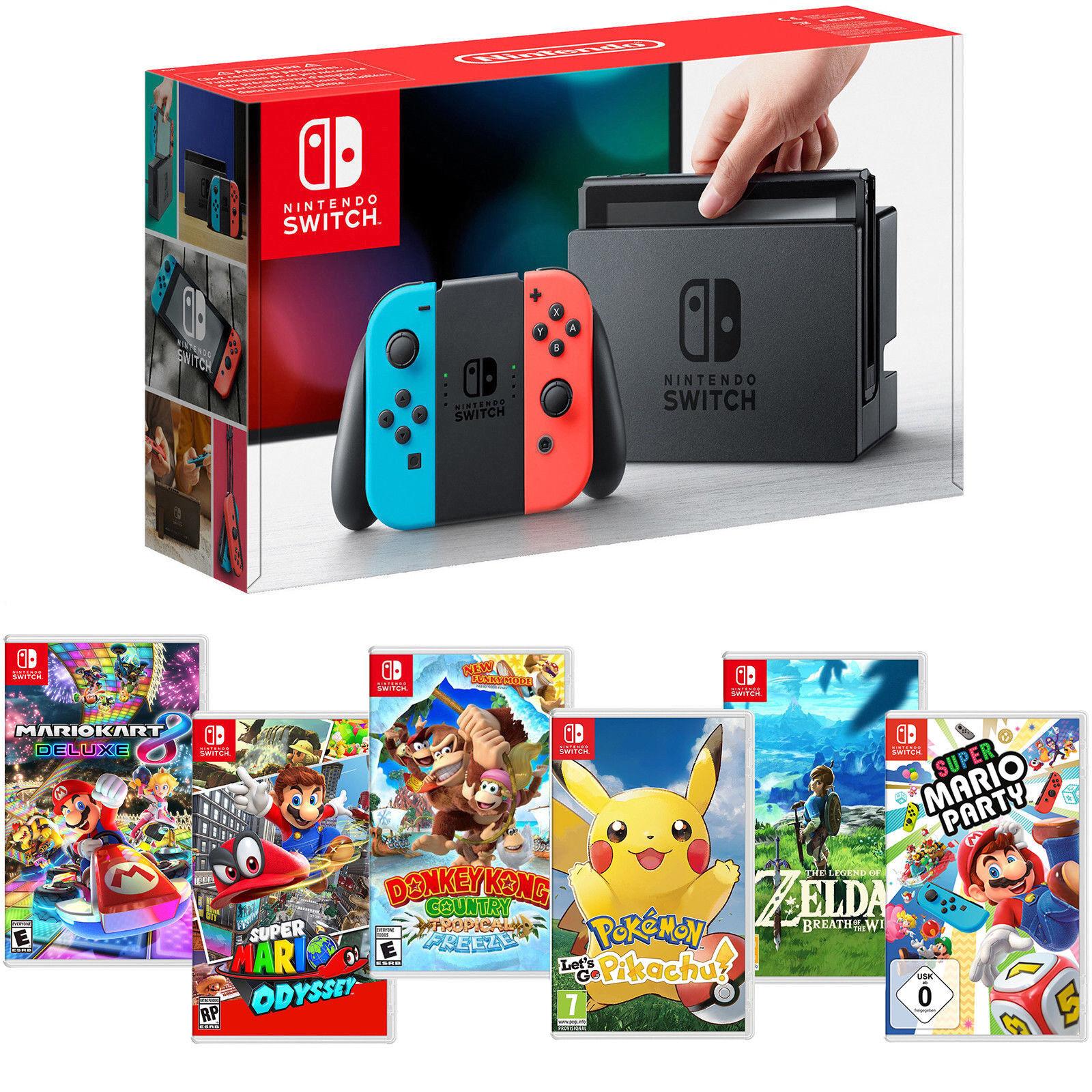 Nintendo Switch Konsole Spiele Neon Pokemon Zelda Mario Party NEU OVP Neuware