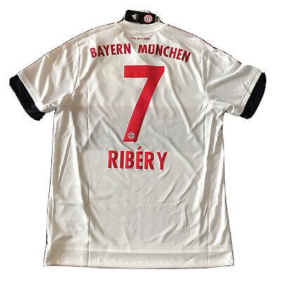2015/16 Bayern Munich Away Jersey #7 Ribery Large Adidas Soccer Football NEW image