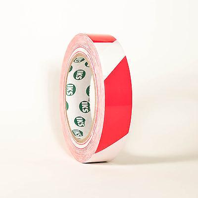 Markierungsband Signalband Warnband Klebeband Rot/Weiß 19mm x 33m