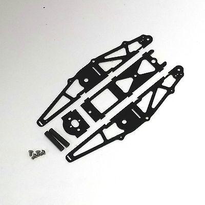XTREME RACING BLACK G-10 1/24 MICO SLOT CAR DRAG CHASSIS XTR20040 INLINE BRACKET for sale  York