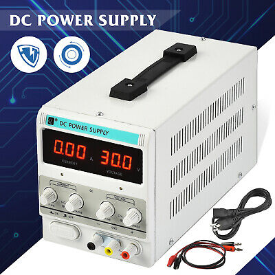 5a 30v Dc Power Supply Adjustable Variable Dual Test Lab W Led Digital Display