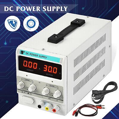 5a 30v Dc Power Supply Adjustable Variable Dual Test Lab W Led Digital Display