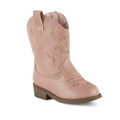 Toddler Girl's Piper Cassidy Pink Western Cowboy Boots Size 8,9, 10, 11 or 12