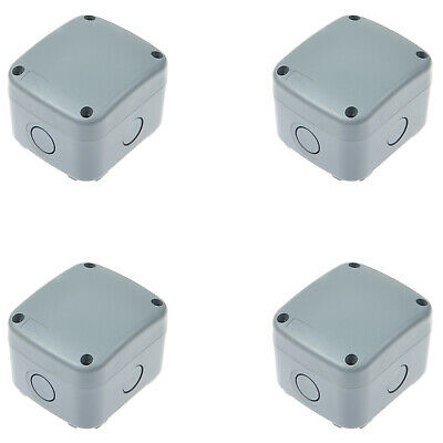 4pk Weatherproof Junction Box Cable Switch Connector Enclosure Case Ip66 Rated