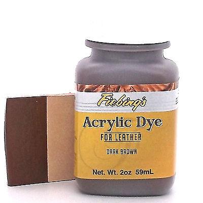 Acrylic Leather Dye Dark Brown Paint 2 oz. (59mL) 2604-02 by Fiebing's
