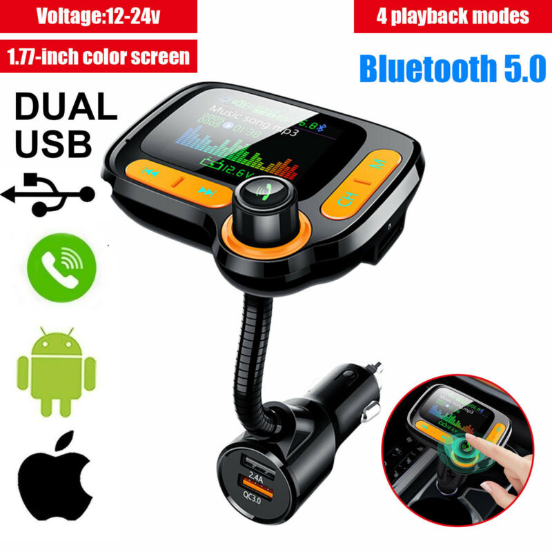 Bluetooth Car FM Transmitter MP3 Player Hands free Radio Adapter 2 USB Charger
