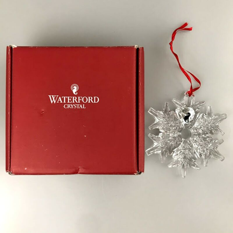 Waterford Crystal Christmas Tree Ornament Snowflake New w/ Box and Seahorse